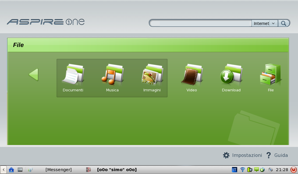 File manager di Linpus
