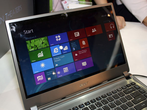 Acer Aspire Timeline Ultra M5 con Windows 8