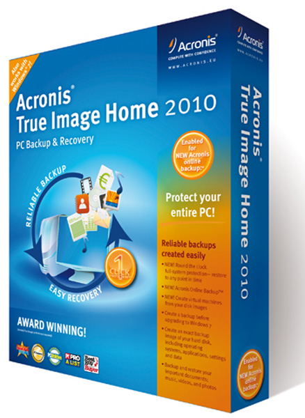 Software Acronis True Image Home 2010 box