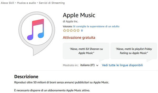 Alexa con gli Echo supporta ora Apple Music