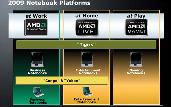 Notebook AMD processori