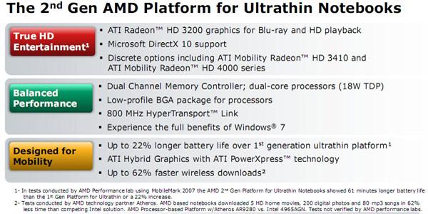 AMD Congo piattaforma per notebook ultrasottili e netbook