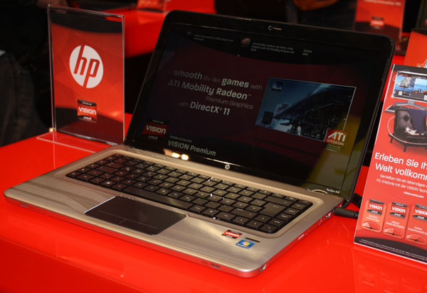 Notebook HP con piattaforma AMD Vision