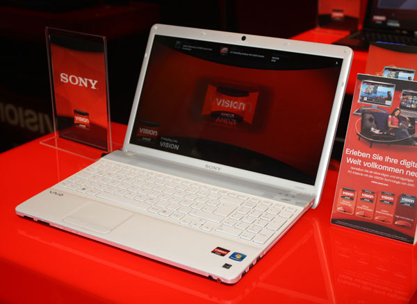 Notebook Sony con processori AMD Vision