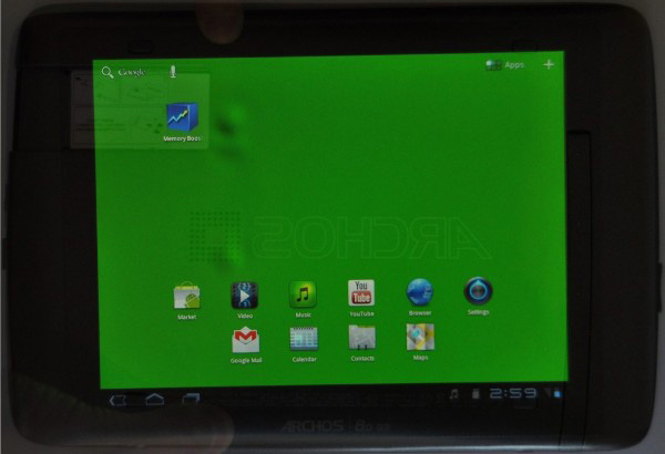 Archos 80 G9 problema al display