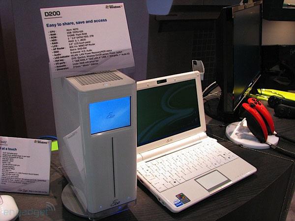 Asus Eee D200 ed Eee PC collegati