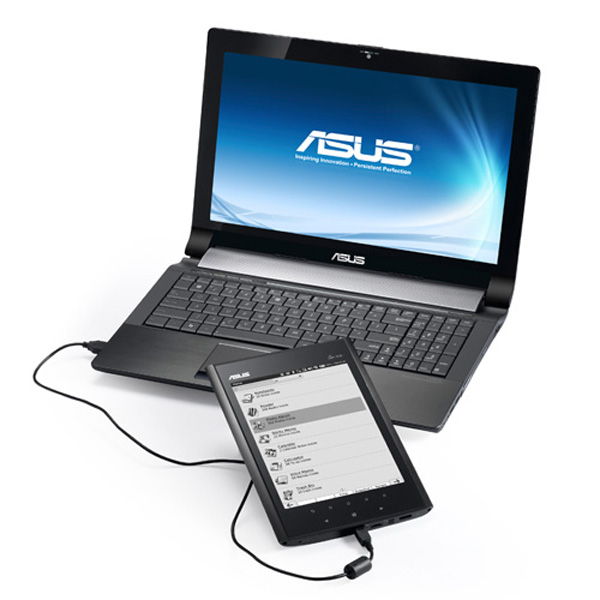 Asus Eee Note EA800 con notebook