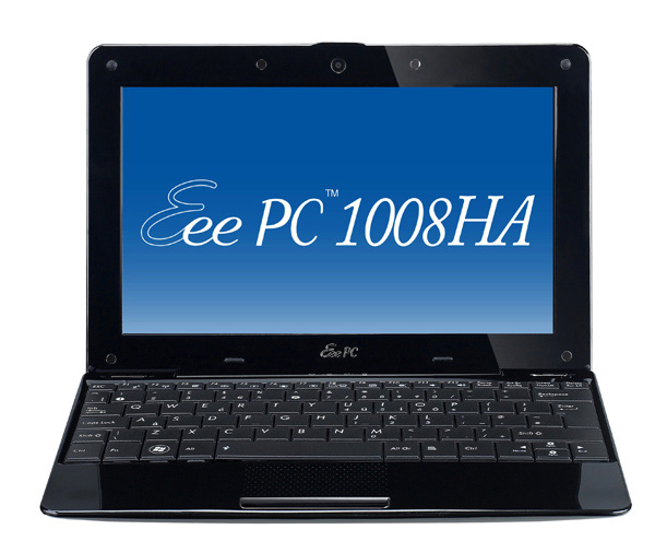 Asus Eee PC 1008HA Seashell nero