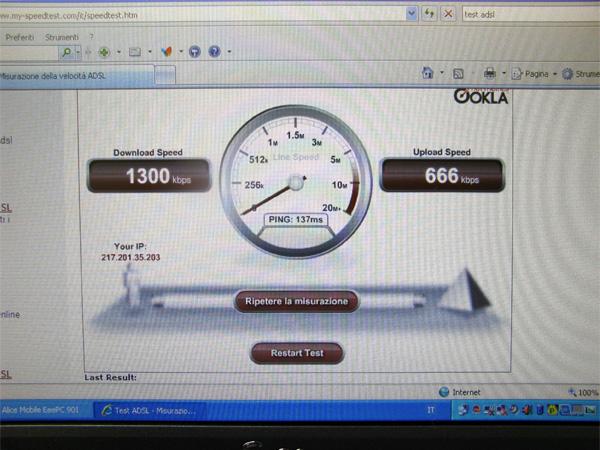 Test velocità connessione