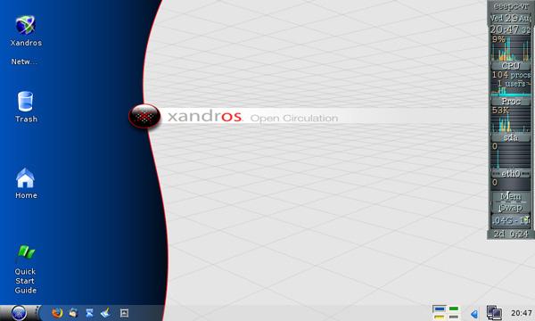 EeePC Xandros screenshot