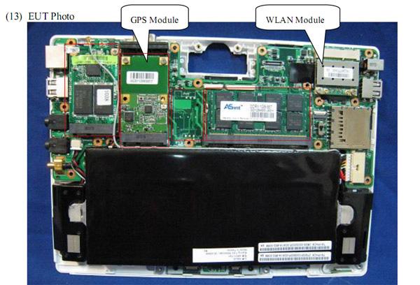 Eeepc t91 esaminato da fcc notebook italia for Interieur ordinateur
