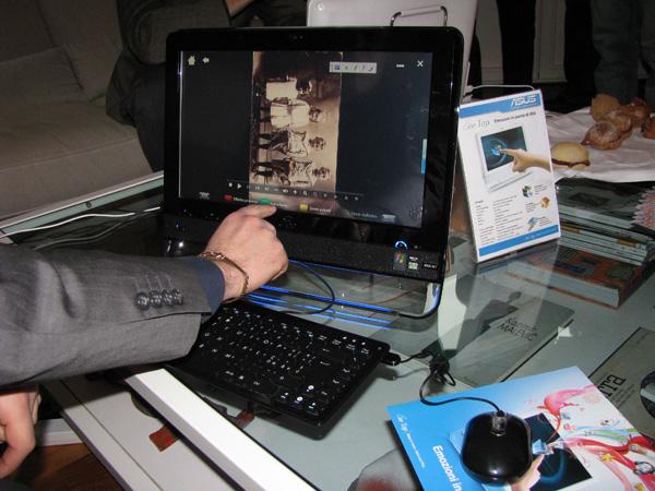 Touchscreen in azione