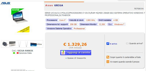 Asus UX31A Epto