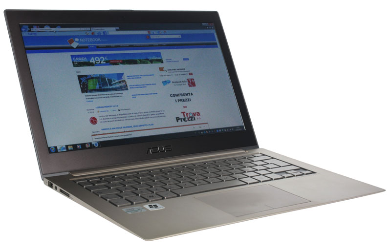 Notebookitalia sull'ultrabook Asus Zenbook