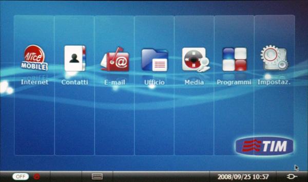 Interfaccia grafica utente del MID BenQ