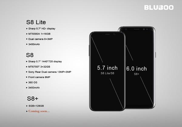 Bluboo S8 Lite e Bluboo S8 sfidano il Galaxy S8, sulla ...