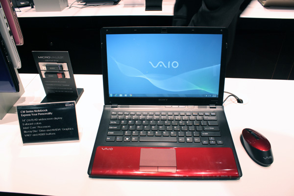 Sony Vaio CW rosso forntale