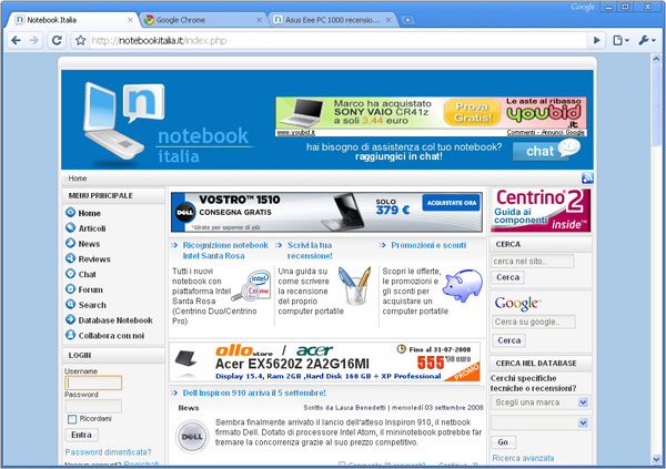 Google Chrome Notebookitalia