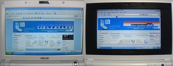 EeePC 900 e 701 - schermi