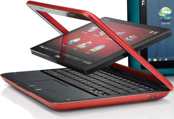 Dell Inspiron Duo, conversione in tablet