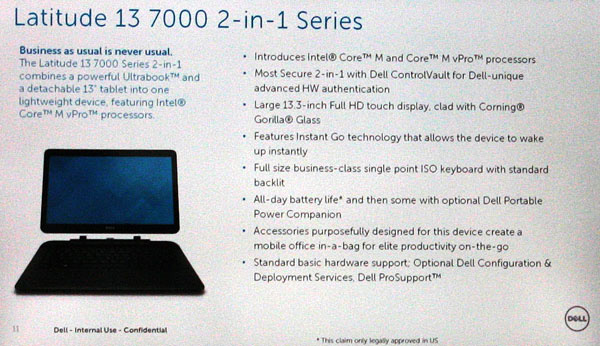 Dell Latitude 13 7000 specifiche
