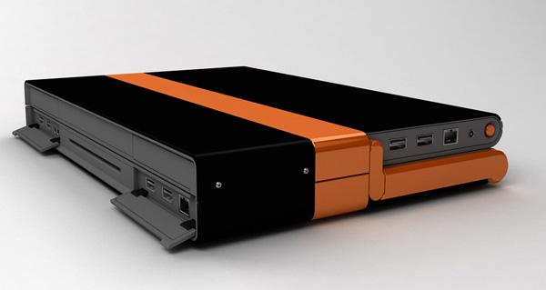 Variante arancio del notebook dual touchscreen