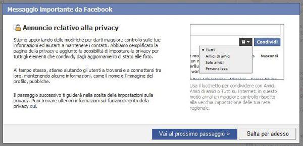 Facebook regole privacy