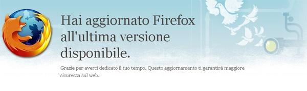 Firefox aggiornamento