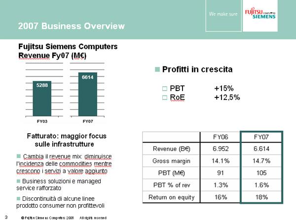 Fujitsu siemens risultati mercato