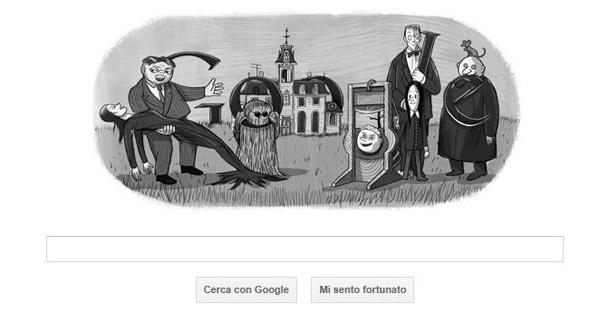 Gogole doodle su Charles Addams
