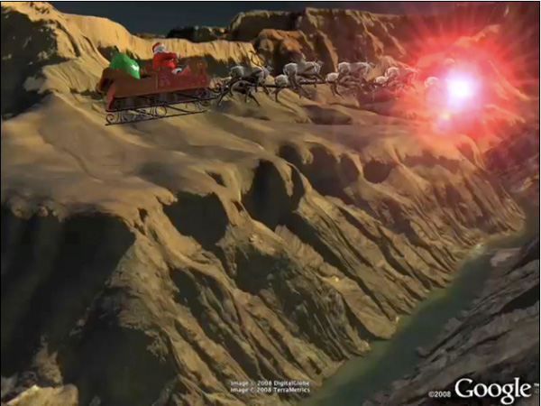 Babbo Natale su Google Earth