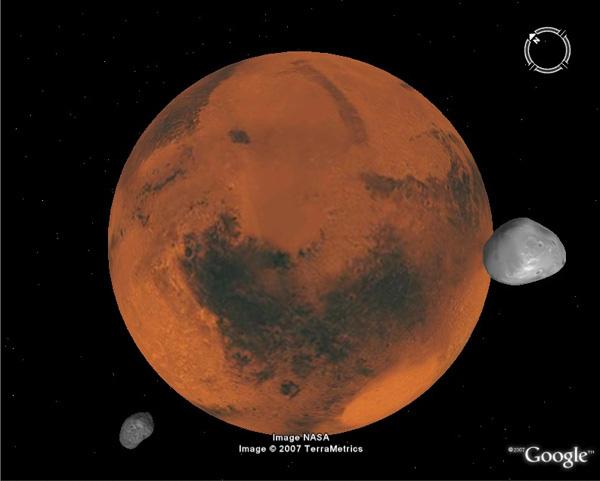 Google Earth su Marte