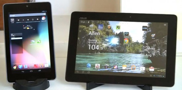 Google Nexus 7 vs ASUS Transformer Pad TF700
