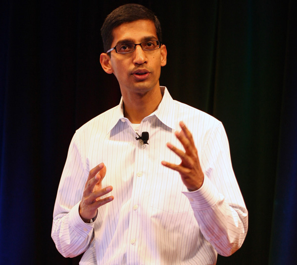 Sundar Pichai di Google parla di Chrome OS
