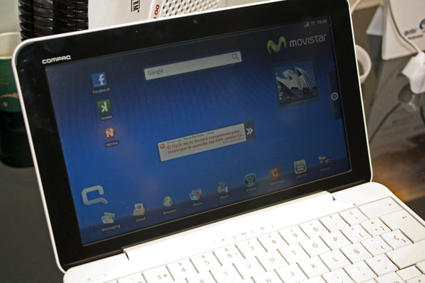 Android OS su Compaq AirLife 100