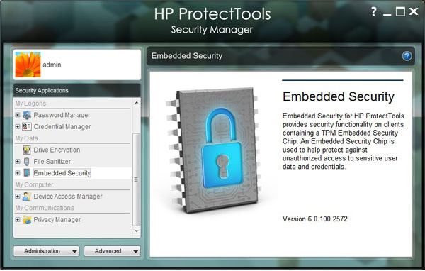 HP Protect Tools