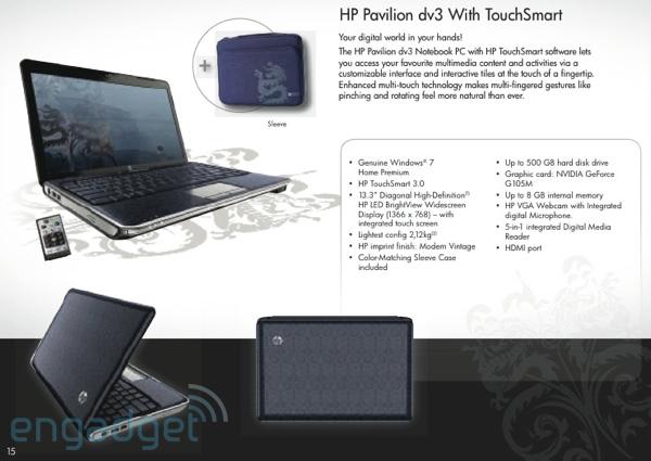 HP Pavilion dv3 con TouchSmart
