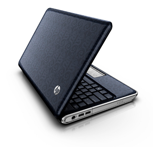 Tre quarti del notebook HP Pavilion dv3 Touchsmart