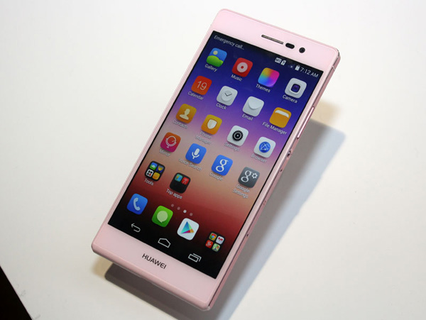 Huawei Ascend P7 rosa