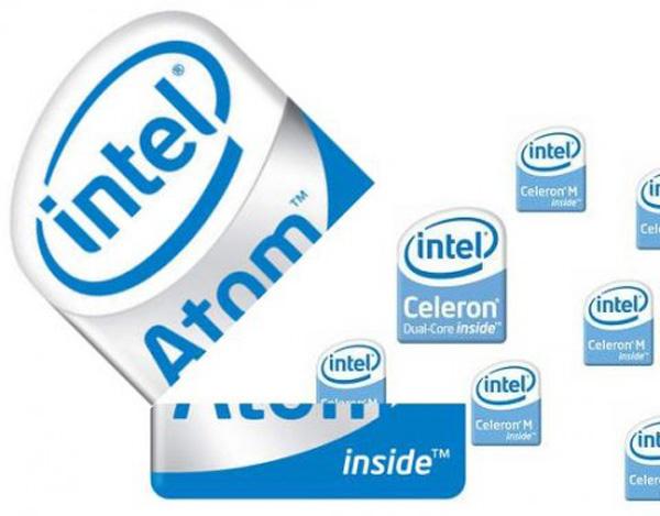 Processori Intel Atom contro Celeron