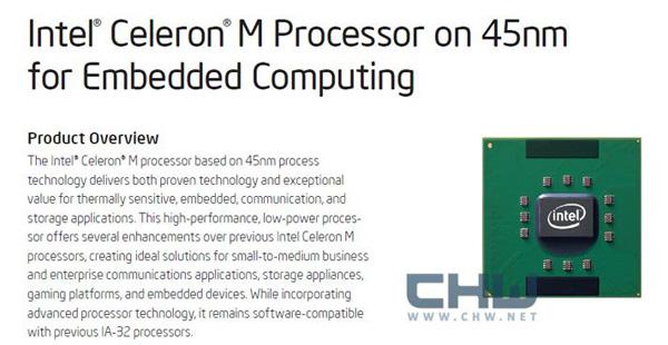 Processore Intel Celeron M ULV 722 contro Atom