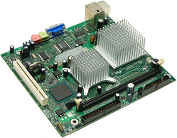Motherboard di un nettop Intel
