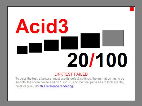 Internet Explorer 8 Acid3
