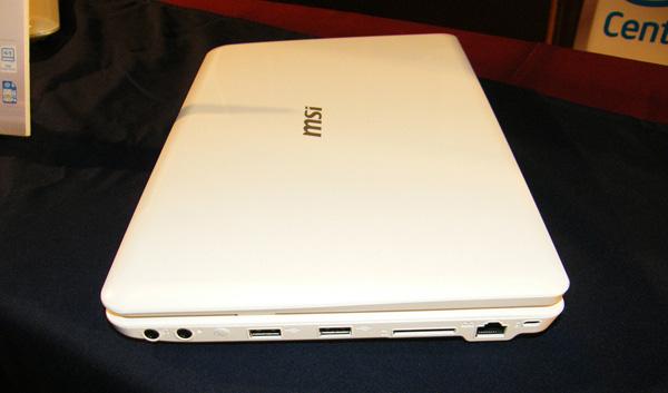 Netbook MSI Wind U200 lato destro
