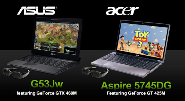 Nvidia GeForce 400M su notebook Asus e Acer