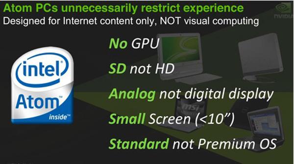 Nvidia Ion con Intel Atom