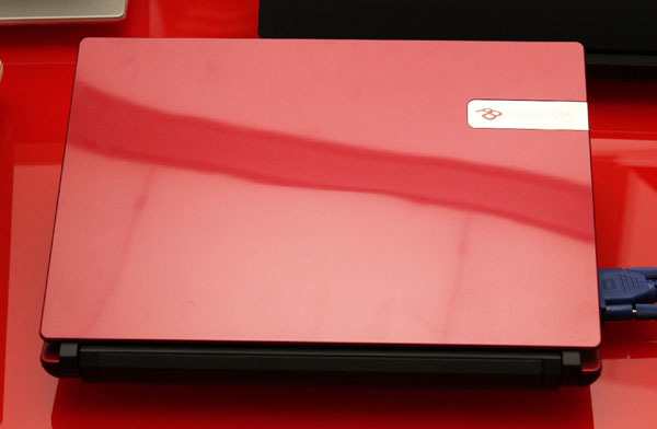 Cover rossa del Packard Bell dot S