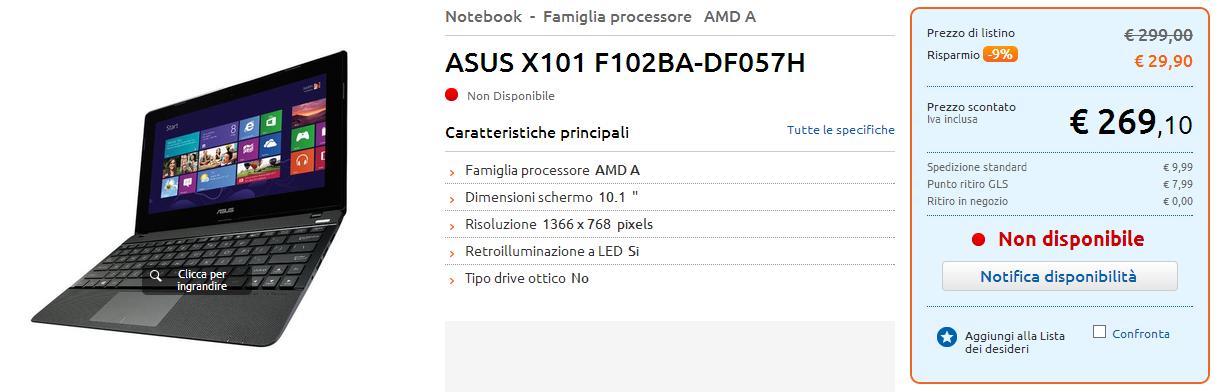 ASUS F102 (F102BA) e R103 (R103BA), due varianti dell'ASUS X102?