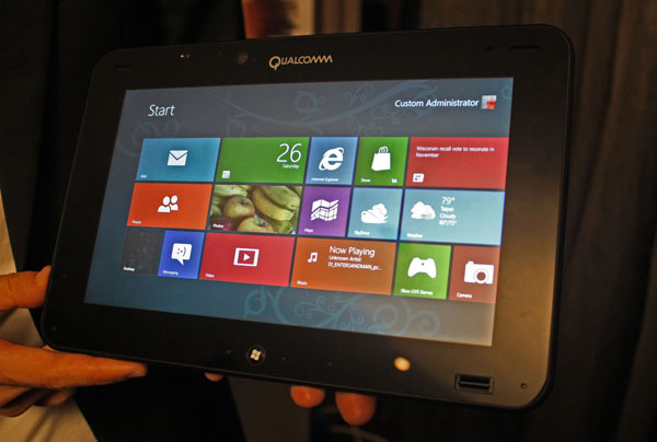 La prima immagine del tablet Qualcomm con sistema operativo Windows 8 RT