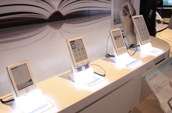 Ebook reader Samsung panoramica